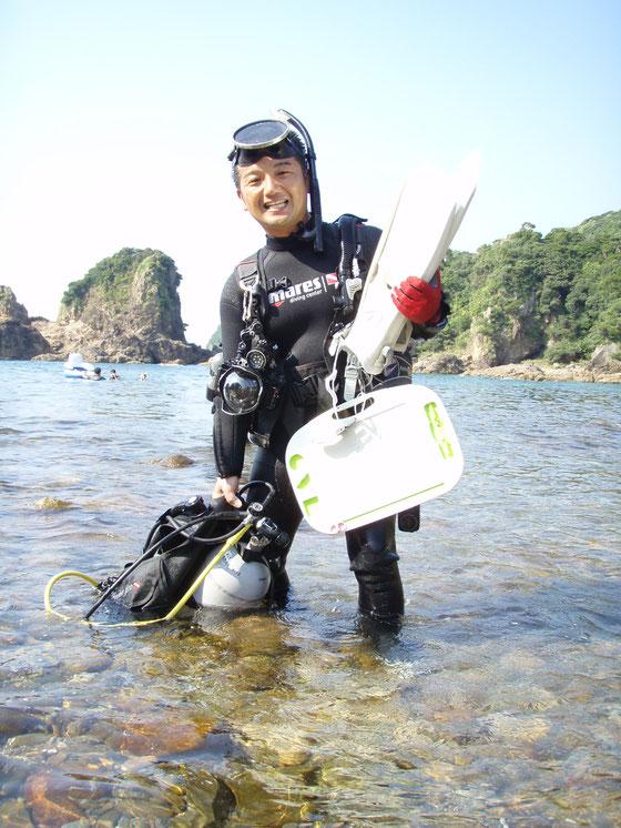 天草の海でスキューバダイビングライセンス講習