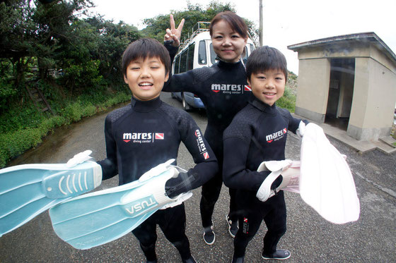 熊本天草体験ダイビングイメージ写真 ご家族でご参加できます!