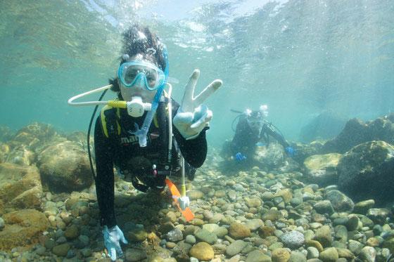 熊本天草体験ダイビングイメージ写真 ようこそ海中世界へ