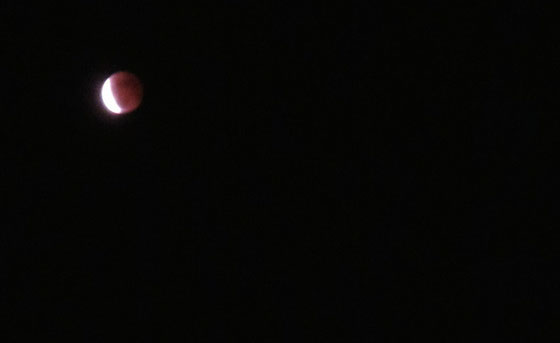 The moon's eclipse on Oct 8