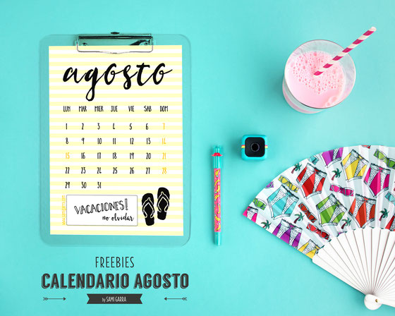 Freebies de calendario: AGOSTO by Sami Garra