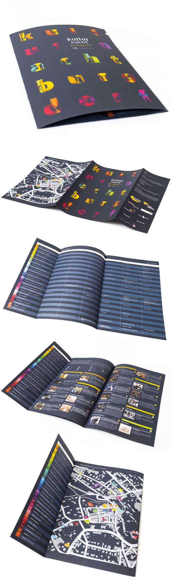 Prospektgestaltung Kulturnacht Burgdorf | Layout und Grafik by Lockedesign seit 2013/14/15/16/17