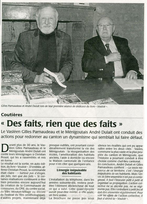 Courrier de l'Ouest 18 janvier 2014