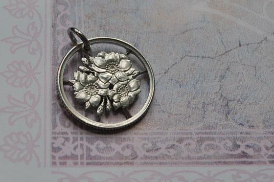 Münzsägewerk Katrin Thull | Japan - Kirschblütenranke versilbert
