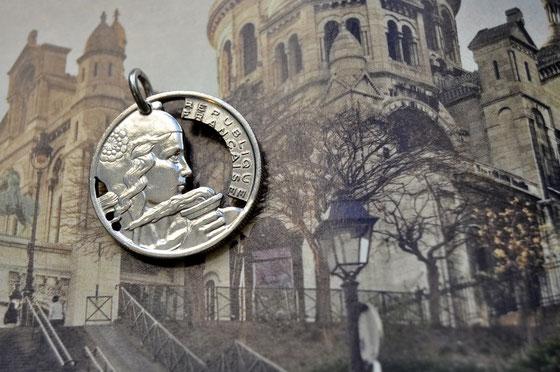 Münzsägewerk Katrin Thull | Frankreich - Frau mit Fackel