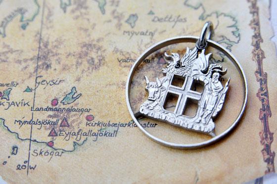 Münzsägewerk Katrin Thull | Island - Wappen