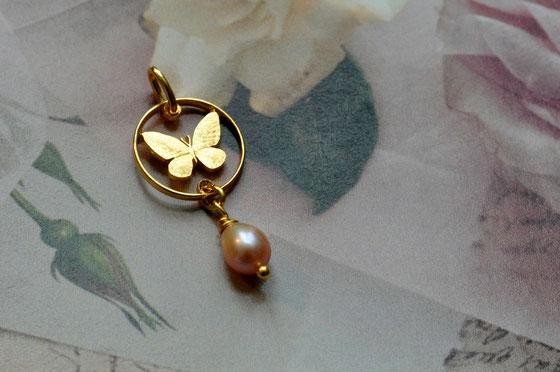 Münzsägewerk Katrin Thull | Philippinen - Schmetterling mit Perle