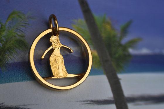 Münzsagewerk Katrin Thull | Cook Inseln - Hula Tänzerin