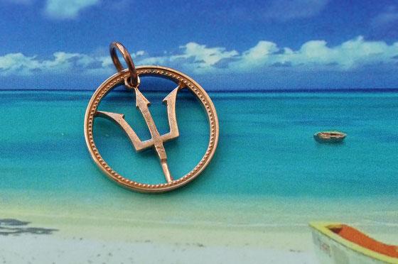 Münzsagewerk Katrin Thull | Barbados- Dreizack (Symbol Neptuns)