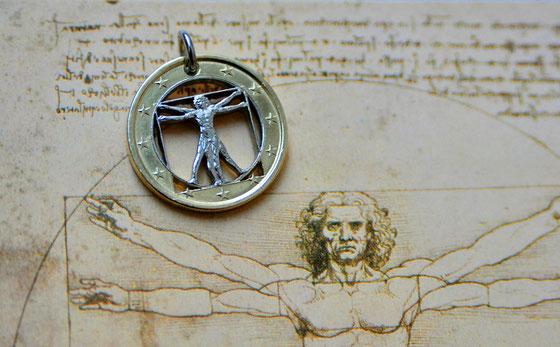 Münzsägewerk Katrin Thull | Italien - Leonardo Vitruvianischer Mann