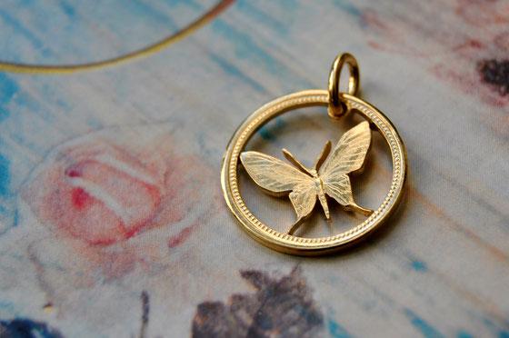 Münzsägewerk Katrin Thull | Papua Neuguinea - Schmetterling Gold