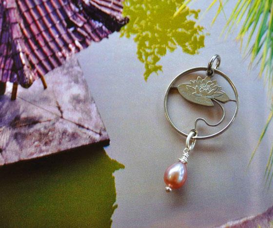 Münzsägewerk Katrin Thull | Lettland - Seerose mikt Perle