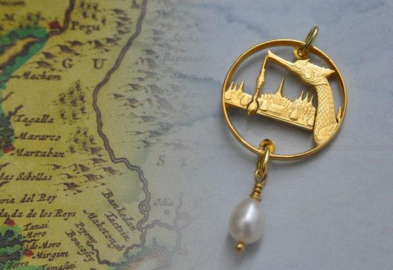 Münzsägewerk Katrin Thull | Thailand - Königsbarke mit Perle