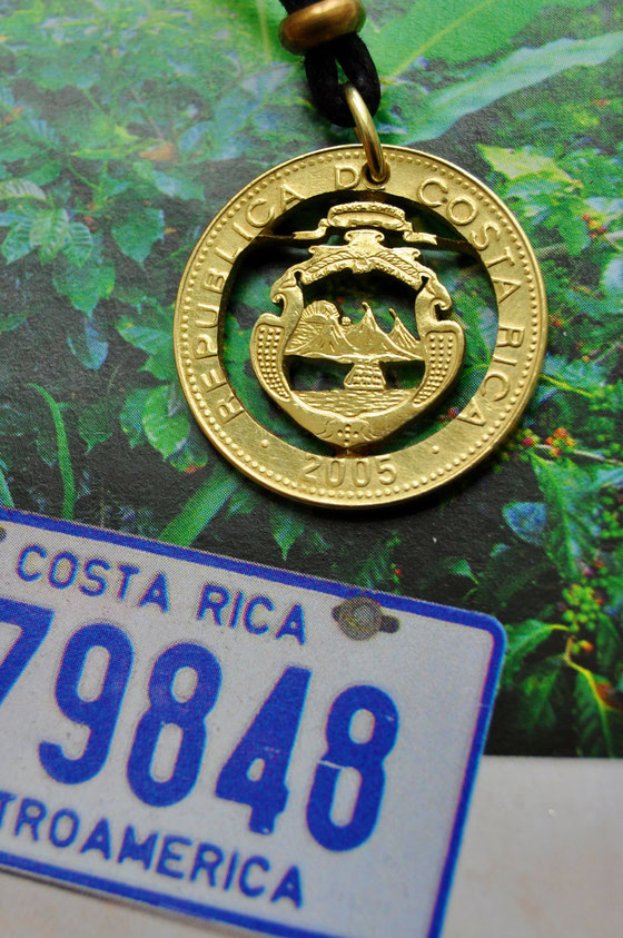 Münzsagewerk Katrin Thull | Costa Rica - Wappen