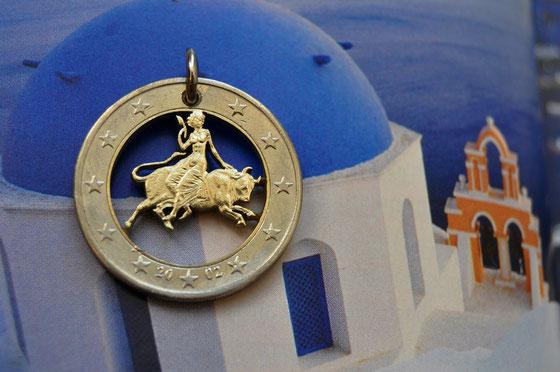 Münzsägewerk Katrin Thull   Griechenland - Europa auf dem Stier