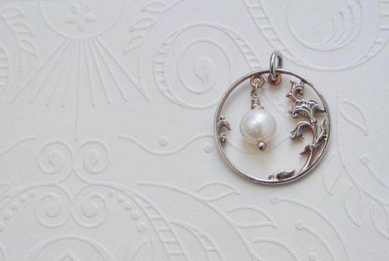 Münzsägewerk Katrin Thull | Russland - Blütenranke mit Perle