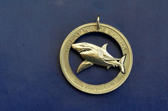 Münzsagewerk Katrin Thull | Australien - Weißer Hai Silber