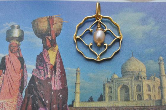 Münzsägewerk Katrin Thull | Indien - Anna mit Perle