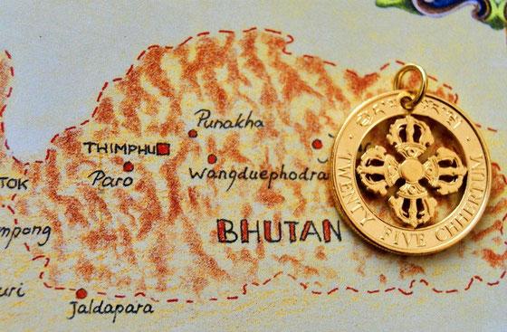 Münzsagewerk Katrin Thull   Bhutan - Donnerkeil Dorje