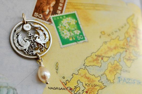 Münzsägewerk Katrin Thull | Japan - 2 Phöniken mit Perle