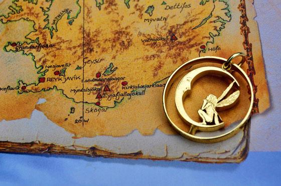 Münzsägewerk Katrin Thull | Island - Elfe mit Mond