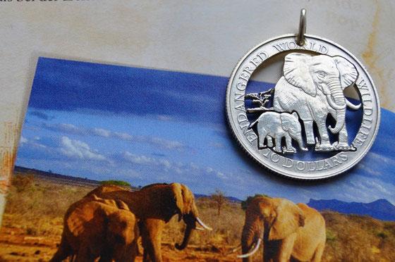 Münzsagewerk Katrin Thull   Cook Inseln - Elefanten