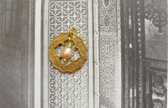 Münzsägewerk Katrin Thull   Indien - Anna mit Perle
