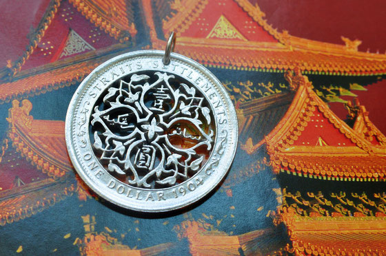 Münzsägewerk Katrin Thull | Straits Settlement - Ornament