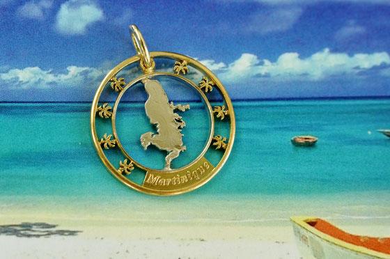 Münzsägewerk Katrin Thull   Martinique - Insel mit Palmen