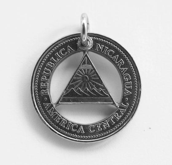 Münzsägewerk Katrin Thull | Nicaragua - Dreieck Nationalemblem