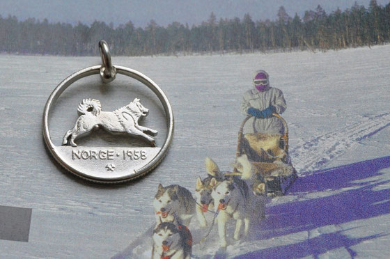 Münzsägewerk Katrin Thull | Norwegen - Husky