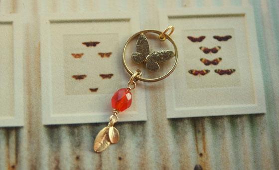 Münzsägewerk Katrin Thull | Philippinen - Schmetterling mit Stein