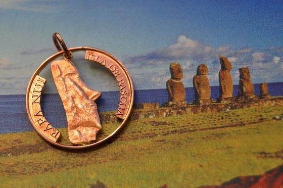 Münzsagewerk Katrin Thull | Osterinsel - Statue eines Moai