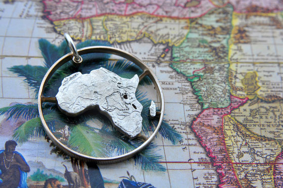 Münzsägewerk Katrin Thull | Zaire - Afrika Karte