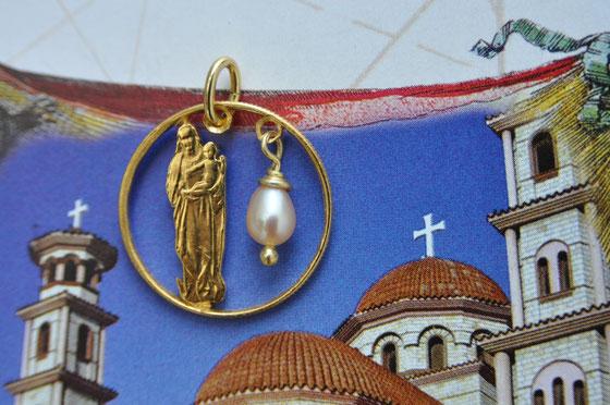 Münzsägewerk Katrin Thull | Slowakei - Madonna und Kind mit Perle