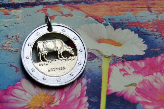 Münzsägewerk Katrin Thull   Lettland - Kuh