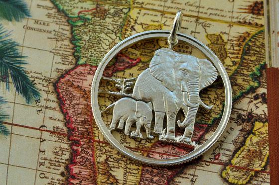 Münzsagewerk Katrin Thull | Cook Inseln - Elefanten