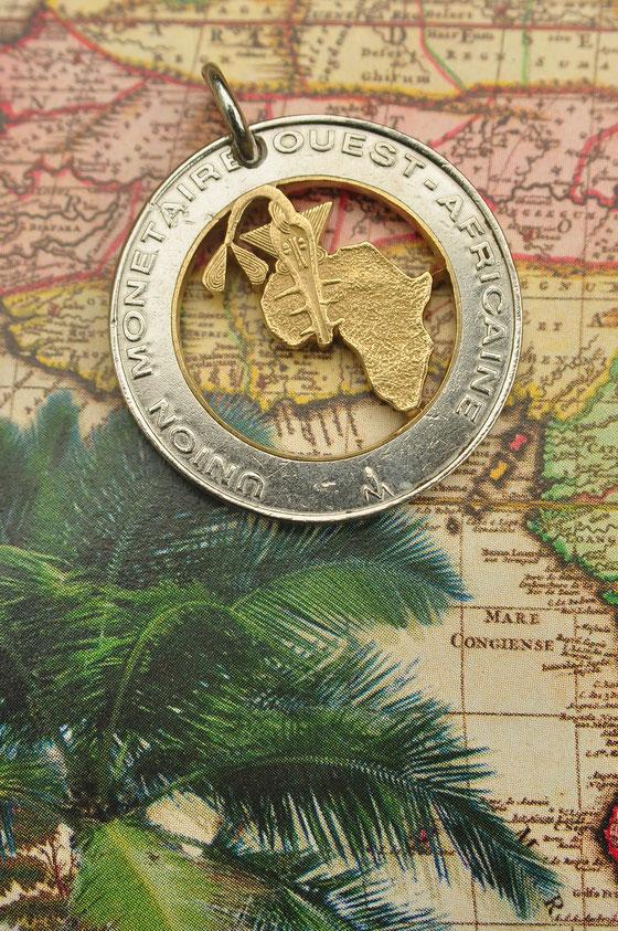 Münzsagewerk Katrin Thull | Benin - Landkarte