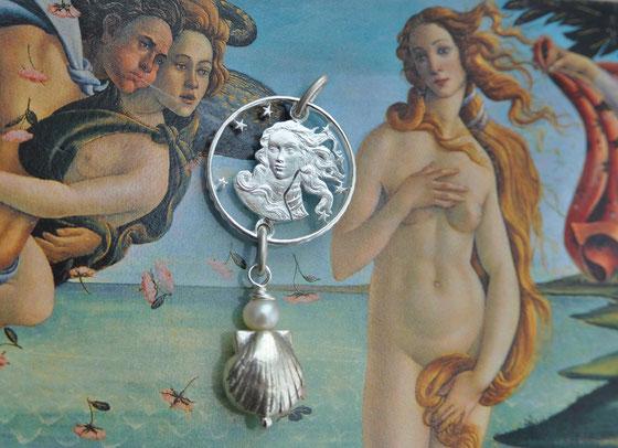 Münzsägewerk Katrin Thull | Italien - Venus von Milo, Silber mit Perle