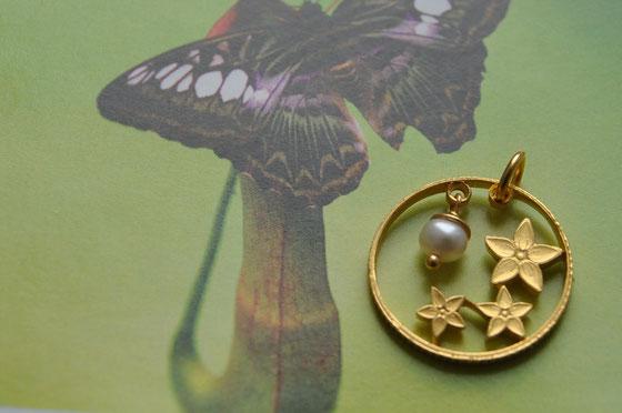Münzsägewerk Katrin Thull | Malaysia - Blümchen mit Perle