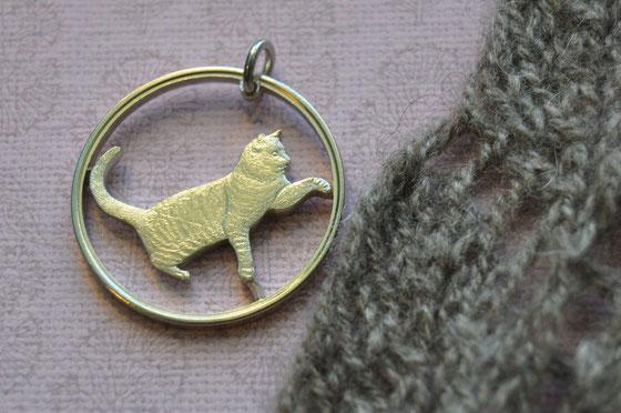 Münzsägewerk Katrin Thull   Großbritannien - Tabby Katze