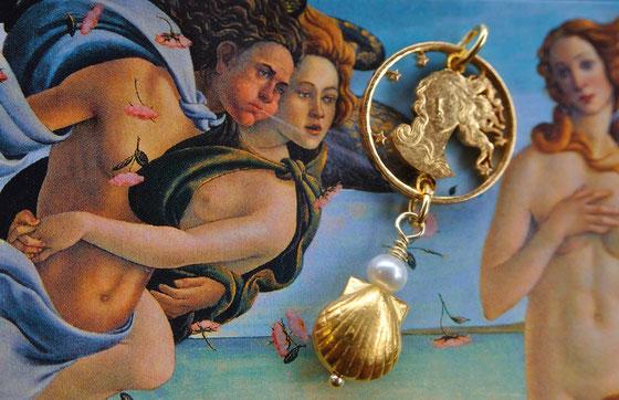 Münzsägewerk Katrin Thull | Italien - Venus von Milo, Gold mit Perle