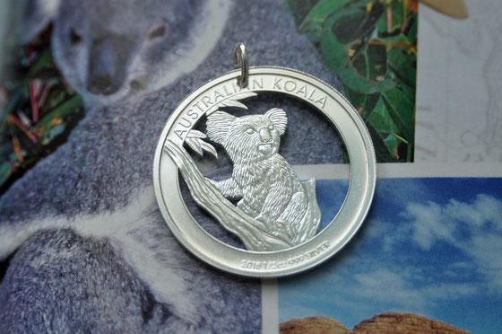 Münzsagewerk Katrin Thull | Australien - Koalabär Silber