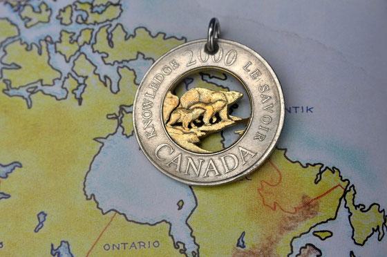 Münzsägewerk Katrin Thull | Kanada - Eisbärenfamilie 2 Dollar
