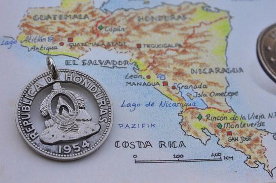 Münzsägewerk Katrin Thull   Honduras - Wappen