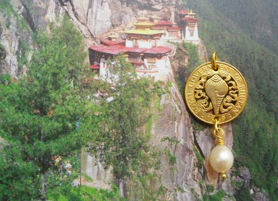 Münzsagewerk Katrin Thull | Bhutan - Schneckenhorn mit Süwasserperle