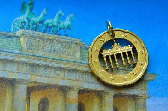 Münzsagewerk Katrin Thull | Deutschland - 20 Cent Brandenburger Tor