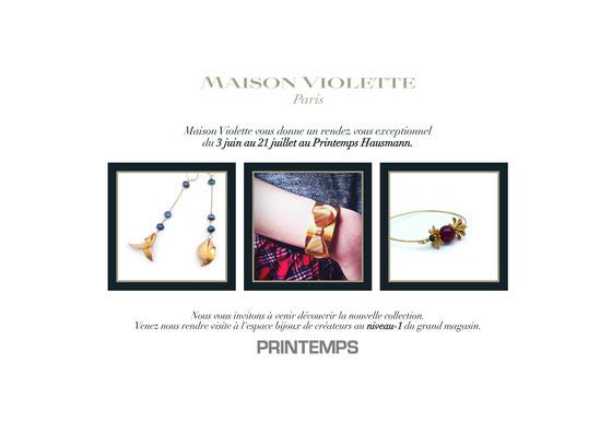 Retrouvez Maison Violette au Printemps Hausmann du 3 juin au 21 juillet 2013