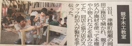 夏休み木工教室㈱岡田工務店