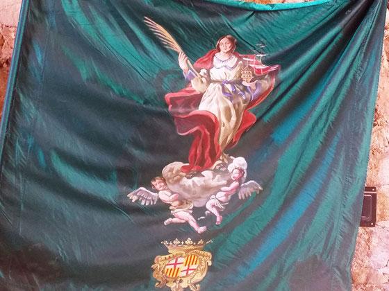Достопримечательности Барселоны. Флаг Святой Матроны Барселонской